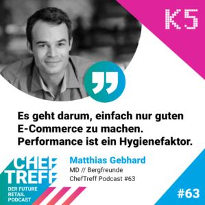 Es geht darum, einfach nur guten E-Commerce zu machen. Performance ist ein Hygienefaktor. Matthias Gebhard, Bergfreunde