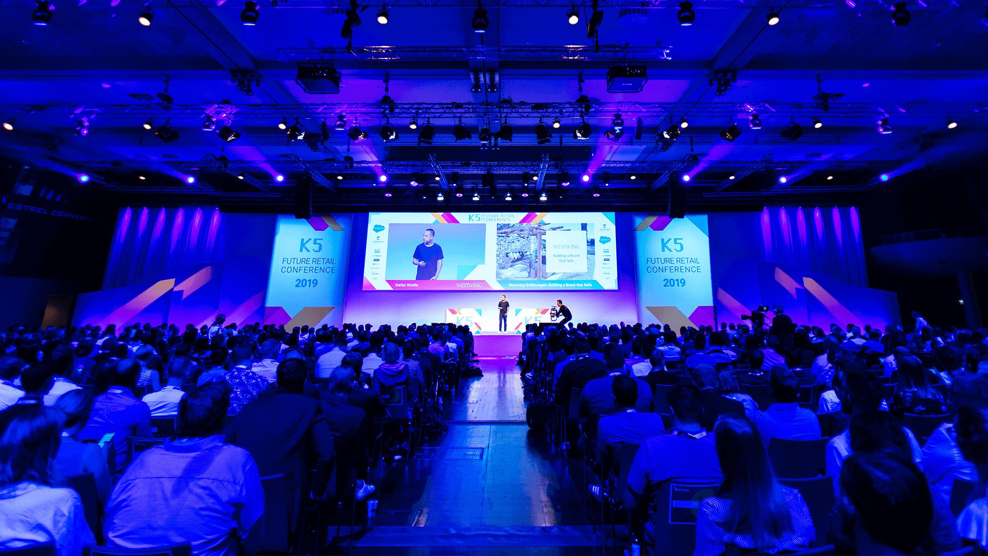K5 Konferenz - Stage und Publikum
