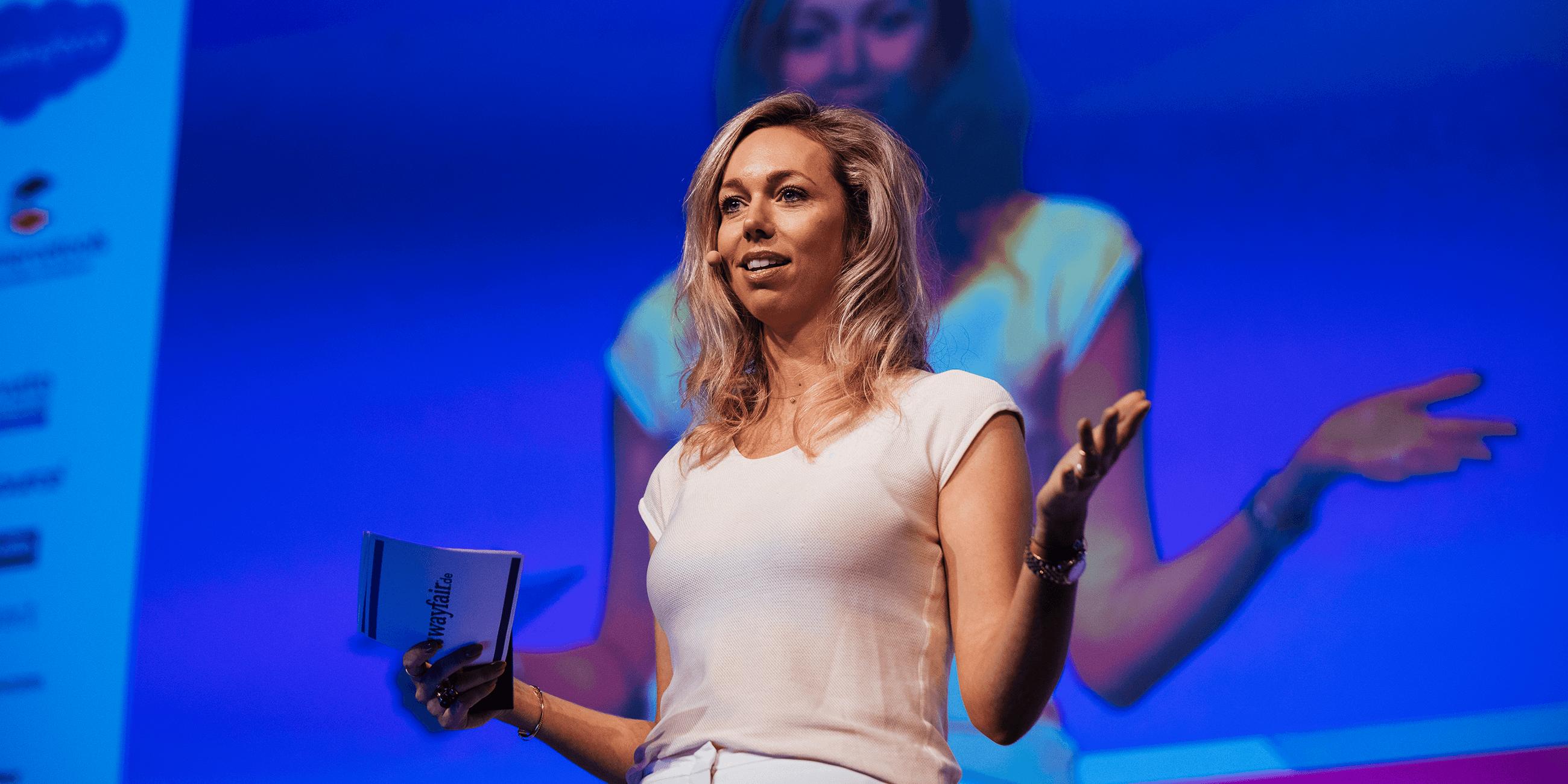 Speaker auf der Bühne der K5 Konferenz